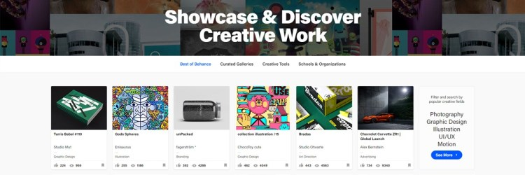Either if you have another portfolio website or not, you should have a Behance account for the community aspect!