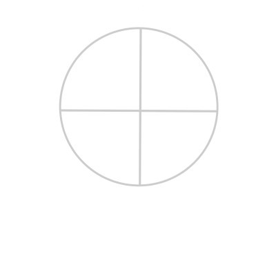 Start by drawing a circle when drawing a face.