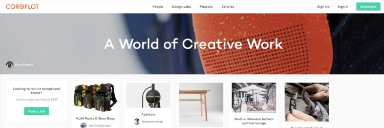 Coroloft besides being a portfolio website, also has a job board where you can find work!