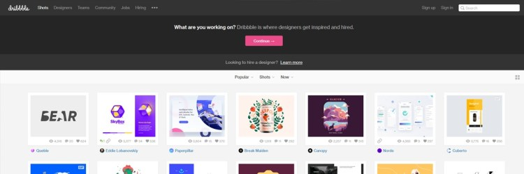 Dribble is one of those portfolio art communities that you should check out even if you have another website!
