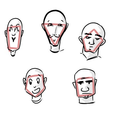 Take the time to pracitce different head shapes. Each shape can lead to very interesting new characters!