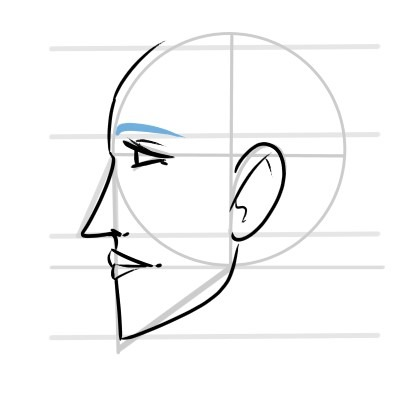 The eyebrow can once again be as simple or as complex as you want.