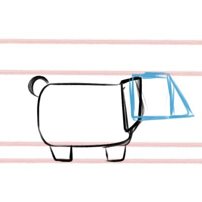 Here's how you draw the head of a corgi!