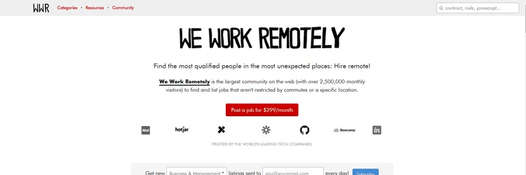WeWorkRemotely focus on just remote jobs that you can apply to as a teacher.