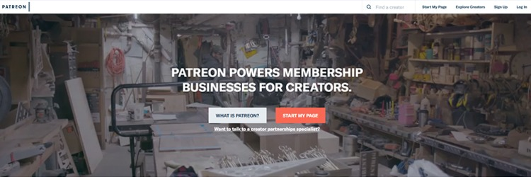 Patreon is a very popular crowdfunding platform where you can get paid by giving out teaching material.