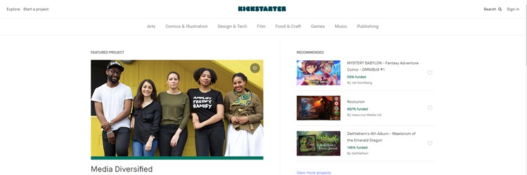 Kickstarter is one of the most popular crowdfunding platform that can help you get paid to teach art online.