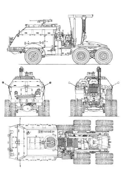 M25 Tank Transporter Blueprint on Drawing Database