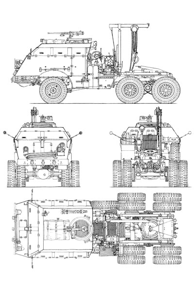 M25 Tank Transporter Blueprint on Drawing Database