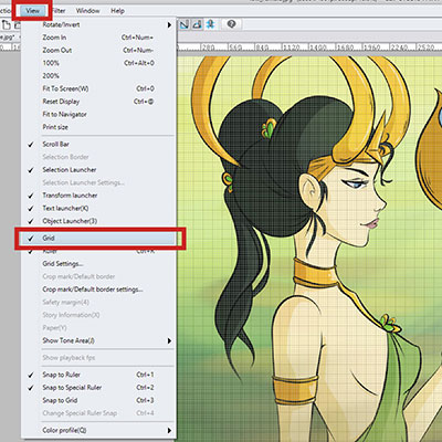 Creating a Grid in Clip Studio Paint is pretty straightforward, here are the steps to show the grid!