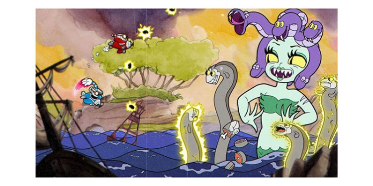 Cuphead game, a very classic cartoon drawing style!