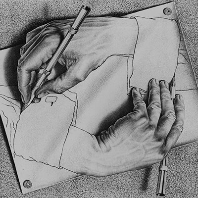 Drawing Hands by E.C.Esher