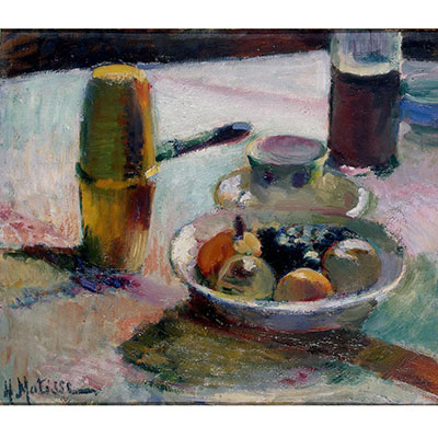 Still life by Henri Matisse, titled - Fruit and Coffeepot