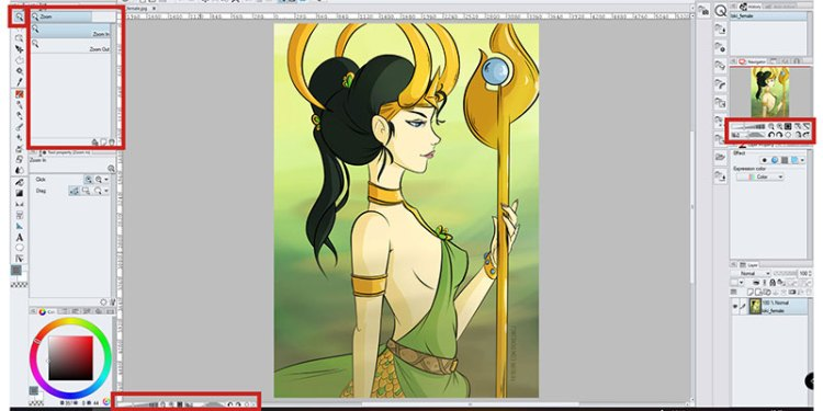 Here's a very simple way to zoom in and out of your artwork in Manga Studio