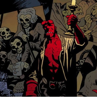 Here's an example of a specific cartoon drawing style by mike mignola!