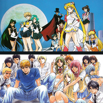 A Classic look at the Manga style - featuring Sailor Moon and GTO (Great Teacher Onizuka)