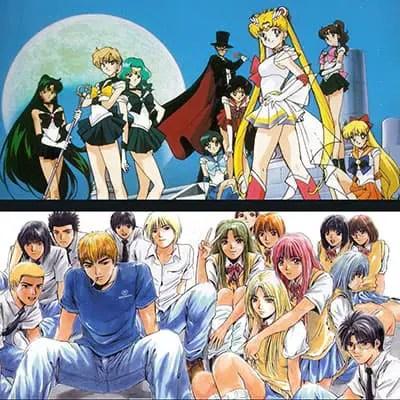 A Classic look at the Manga style - featuring Sailor Moon and GTO (Great Teacher Onizuka)