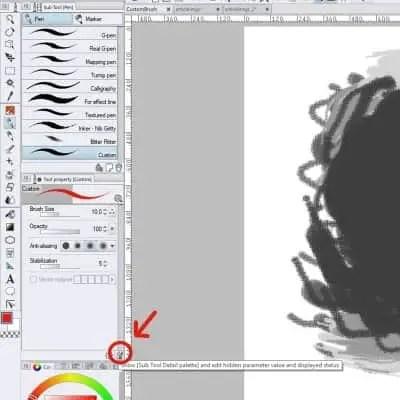 Step 5 of creating your own custom brush!