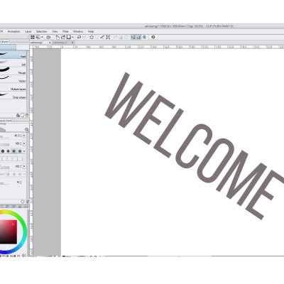 There's one other way to rotate text in clip studio paint, that will allow you to edit it back and forth!