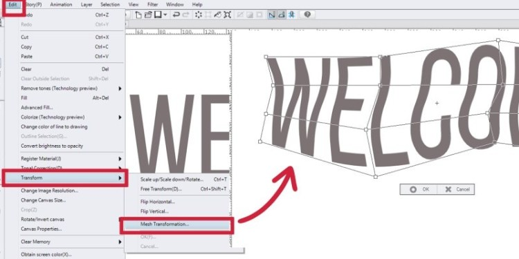 Here's how you can curve and bend your text in Clip Studio Paint!