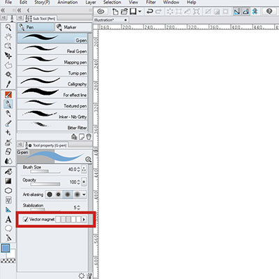 Use the vector magnet option to help you snap your lines, very useful for beginners!