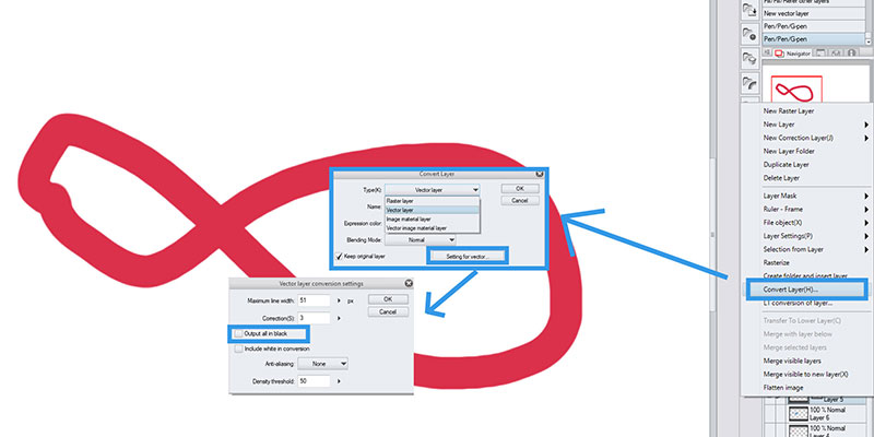 Here's how you can convert your layers to vector in Clip Studio Paint!