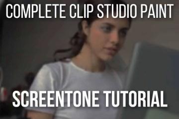 Complete Clip Studio Paint Screentone Tutorial Easy Step-by-Step!