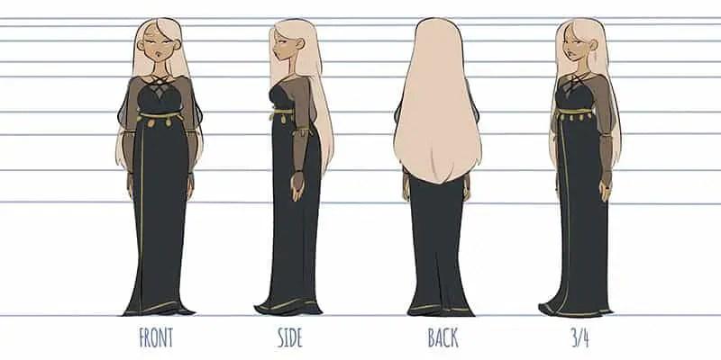 character turnaround design