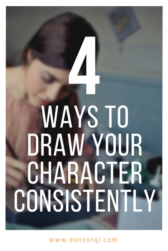 4 ways to draw your character consistently, pinterest cover