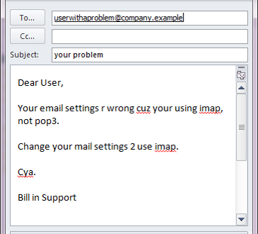 Bad email example