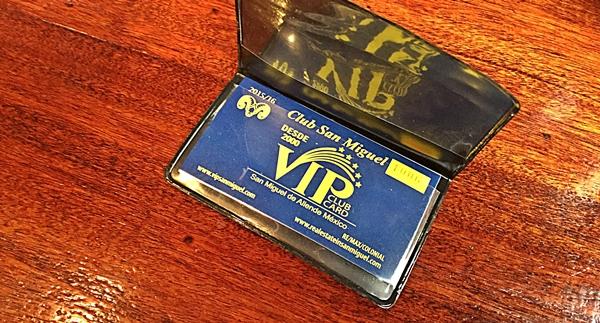 hank's vip card