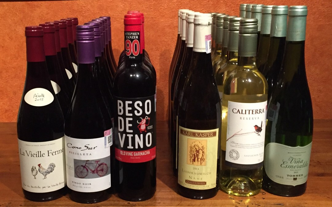 A few good wines with prices you'll be very comfortable with.