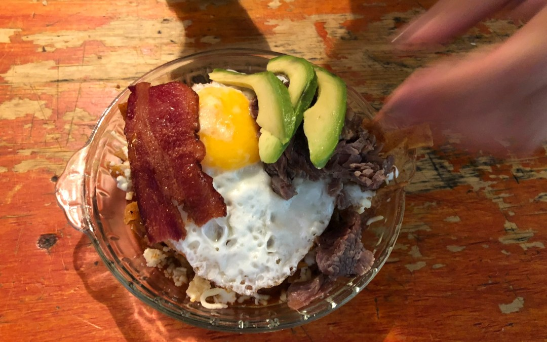 A San Miguel breakfast. For a guy who doesn't eat breakfast.