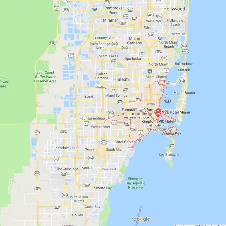 donde se encuentra miami, mapa, turismo, ciudad