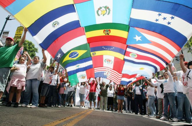 Immigration Reform March Held In Los Angeles