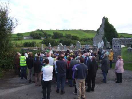 A section of the audience attending the Heritage Week event at Drumhome monastic site and historic graveyard on Friday, August 26.