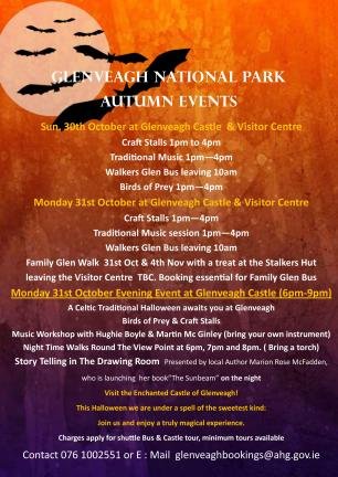 Glenveagh Autumn Events 2016