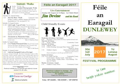 Feile an Earagail 2017 Programme-2