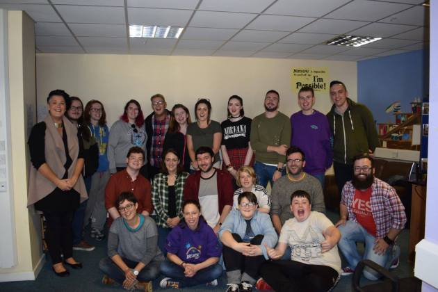 BreakOut (Donegal Youth Service's LGBT Project) reunion photo