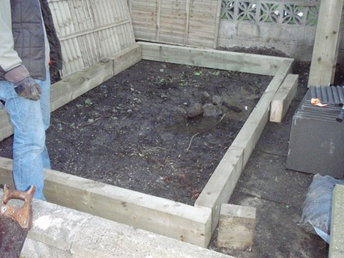 base preparation for a patio