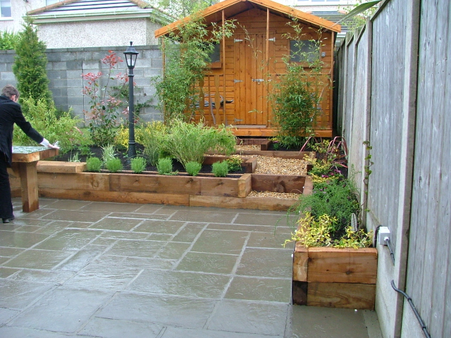 small-garden-patio and raised beds - Peter Donegan ... on Small Patio Design Ideas  id=61681
