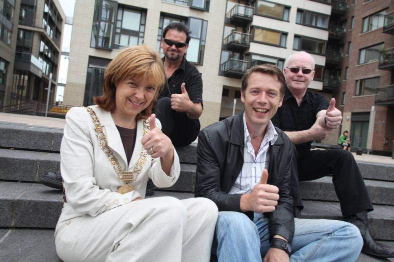 Liam & ken of bagatelle, the lord mayor of dublin and peter donegan