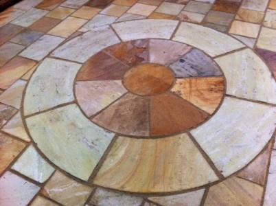 sandstone patio circle