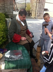 coin minting at oldbridge country fair