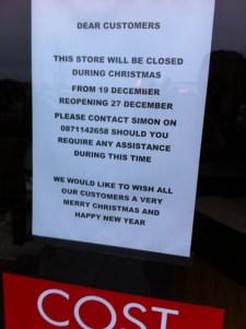 business sign christmas