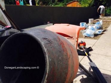 plastering garden walls