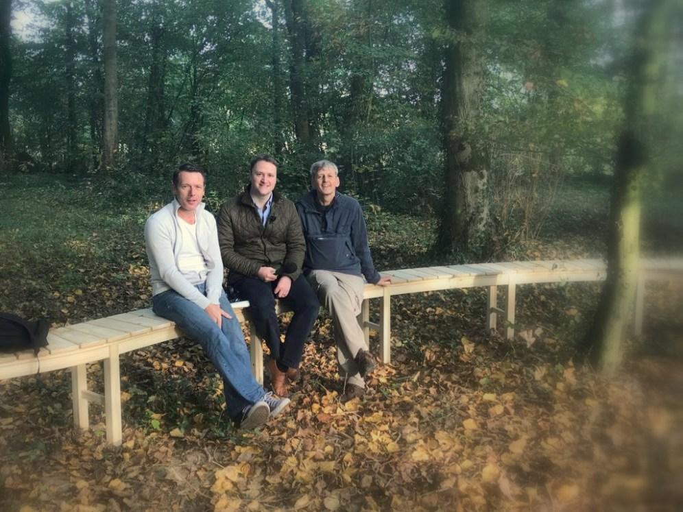 Peter Donegan, David Maxwell, Brendan Little, BBC Gardeners Corner
