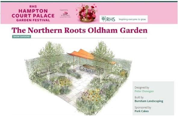 rhs hampton court, peter donegan garden design, northern roots garden