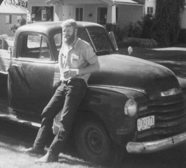 Don Gayton - Proud owner of his first vehicle, a 1953 Chevrolet pickup.