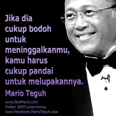 Kata mutiara cinta romantis Mario Teguh
