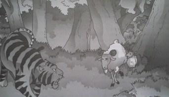 cerita fabel dongeng kambing harimau dan beruang